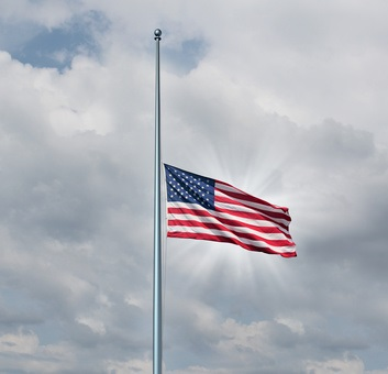 US Flag Half Staff